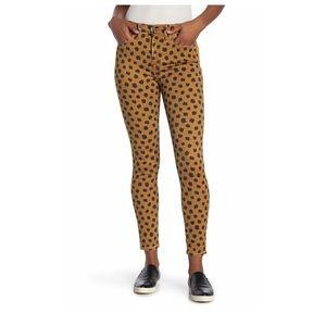 """Madewell 10"""" High Rise Skinny Polka Dot Jeans"""